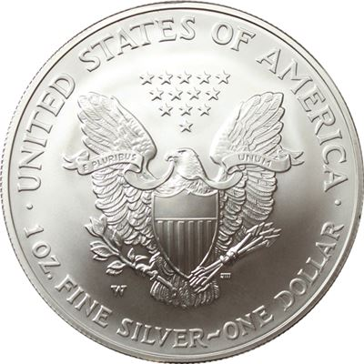 burnished american silver eagle with