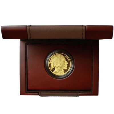 proof gold buffalo with box