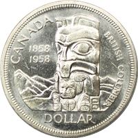 canadian silver dollars totem pole