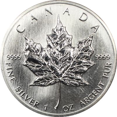 silver canadian maple leaf sealed