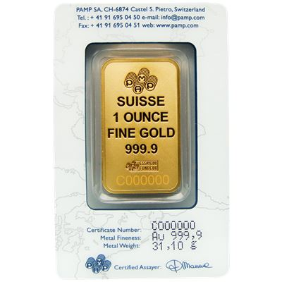 suisse edition pamp gold bar