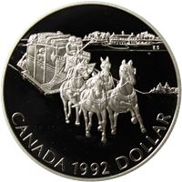 canada silver dollar hourse and