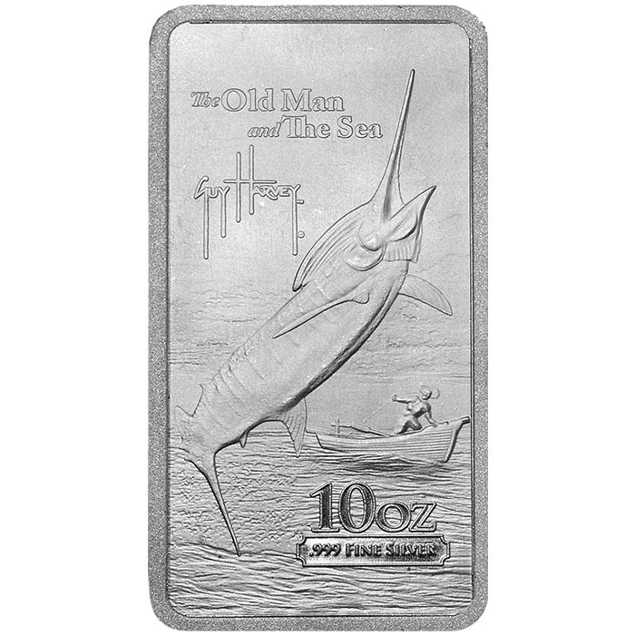 .999 Fine Silver Bar 2015 Guy Harvey The Old Man and the Sea 10 oz