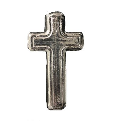 poured silver cross trident silver