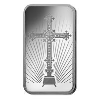 romanesque cross silver bar pamp