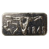 poured silver texas bar trident