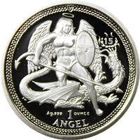 high relief silver proof angel