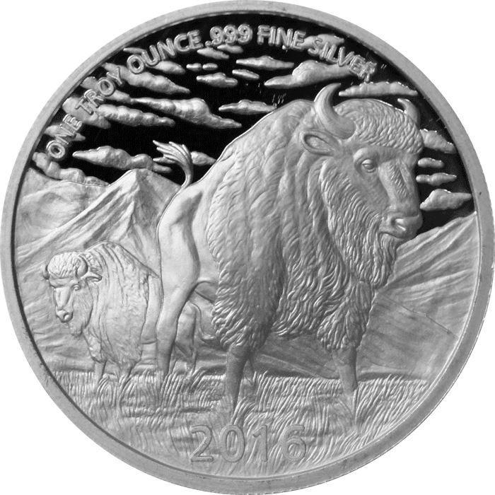 1 oz .999 silver Native American indian  Sitting Bull  round