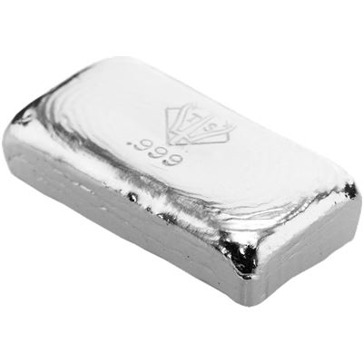 poured silver bar trident silver