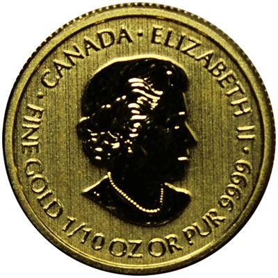 gold canadian $5 special service