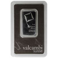 valcambi platinum bar with assay