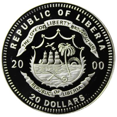 theodore roosevelt $20 silver proof