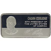 calvin coolidge proof sterling silver