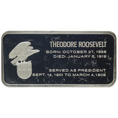 theodore roosevelt proof sterling silver