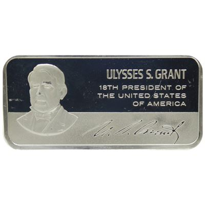ulysses grant proof sterling silver