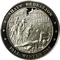 shays rebellion proof sterling silver