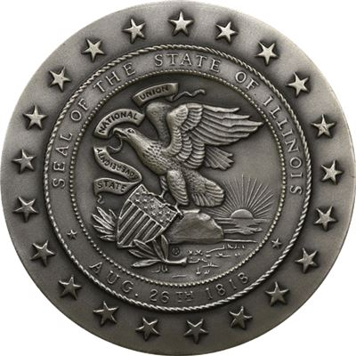 illinois sesquicentennial silver medal pure