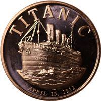titanic copper round avdp pure