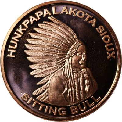 sitting bull copper round avdp