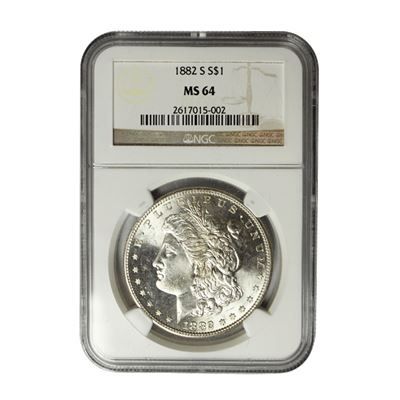 morgan silver dollar ngc ms64