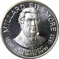 millard fillmore proof sterling silver