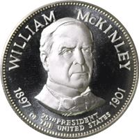 william mckinley proof sterling silver