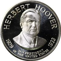 herbert hoover sterling proof silver
