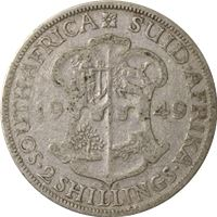 south africa shillings silver coin