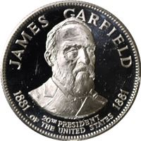 james garfield president proof sterling