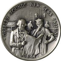 greeley founds new york tribube