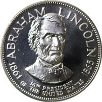 abraham lincoln proof sterling silver
