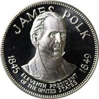 james polk proof sterling silver