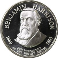 benjamin harrison proof sterling silver