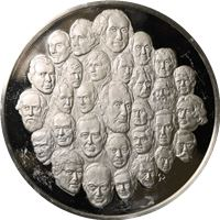 bicentennial proof sterling silver medal