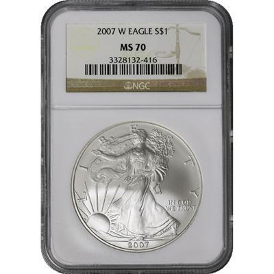 burnished american silver eagle ngc