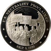 neutrality proclaimed sterling silver round