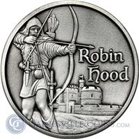 robin hood high relief silver