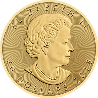 gold canadian maple leaf coin