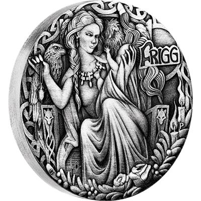 frigg norse goddess high relief