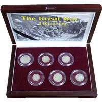 world war set silver coins
