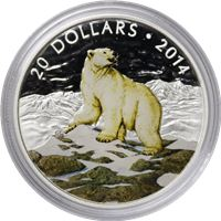 iconic animals polar bear silver