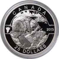 canada series the beaver silver
