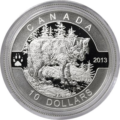 canada series the wolf silver