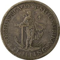 south africa shilling silver coin