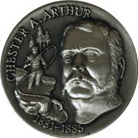 chester arthur high relief sterling