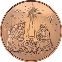 nativity copper round avdp pure