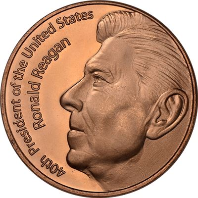 ronald reagan copper round avdp