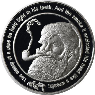 santa claus merry christmas silver