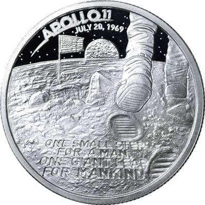 apollo moon landing high relief