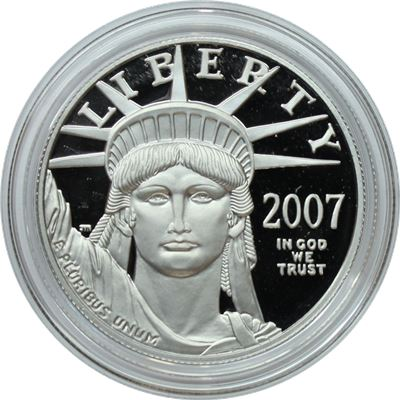 american proof platinum eagle random